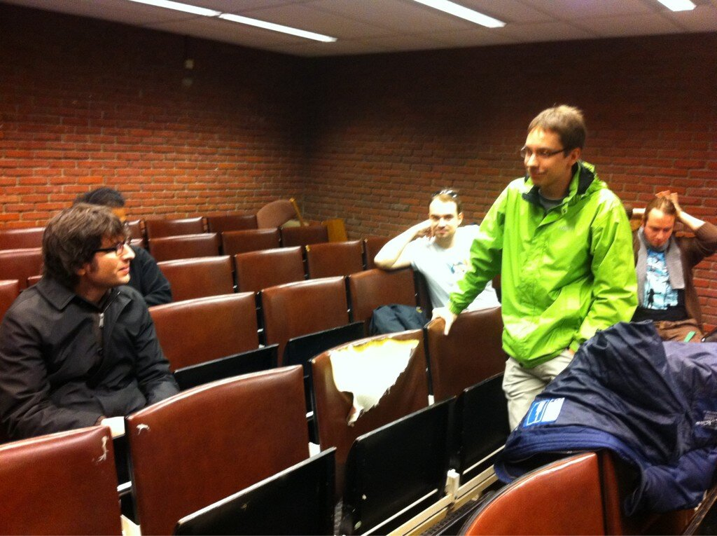 Nikerabbit arrives at the MediaWiki meetup at FOSDEM